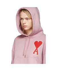 AMI ピンク オーバーサイズ Ami De Coeur フーディ Pink