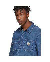メンズ Carhartt WIP ブルー Salinac シャツ ジャケット Blue