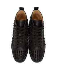 Baskets noires Louis Spikes Christian Louboutin pour homme en coloris Black