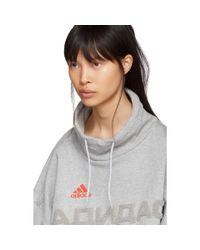 Gosha Rubchinskiy Gray Grey Adidas Originals Edition Funnel Neck Sweatshirt