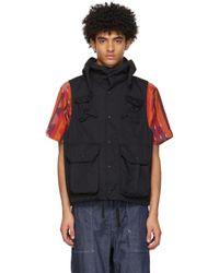 メンズ Engineered Garments ブラック フィールド ベスト Black