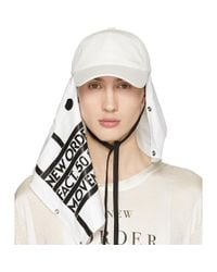 Raf Simons - White New Order Power, Corruption And Lies Movement Baseball Cap for Men - Lyst