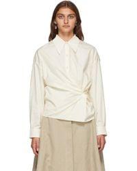 Lemaire オフホワイト ツイスト シャツ White