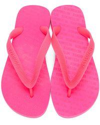 Vetements ピンク ロゴ ビーチ サンダル Pink