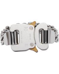 1017 ALYX 9SM シルバー & ゴールド Cubix Chain ブレスレット Metallic