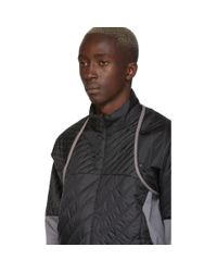 メンズ Kiko Kostadinov Asics Edition ブラック And グレー インシュレーション ジャケット Black