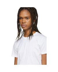 Ensemble de trois t-shirts en jersey blancs Prada en coloris White