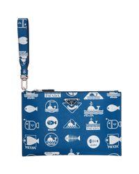 Pochette bleue Whale Prada pour homme en coloris Blue
