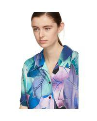 Acne Blue Multicolor Rellah Vi Pr Shirt