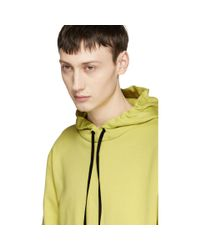 Saint Laurent Yellow Hoodie for men
