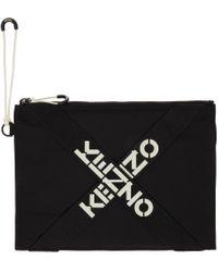 KENZO ブラック ラージ Sport ポーチ Black