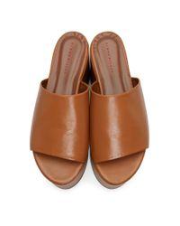 Sandales a plateformes brun clair Blackout Simon Miller en coloris Brown