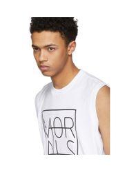 Johnlawrencesullivan White Sleeveless Morals Muscle T-shirt for men