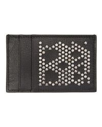 Alexander McQueen - Black Studded Card Holder - Lyst