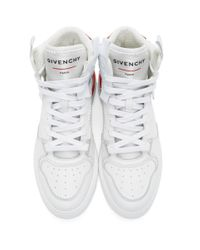 メンズ Givenchy ホワイト And レッド Wings スニーカー White