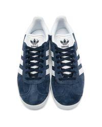 Adidas Originals ネイビー ガゼル スニーカー Blue