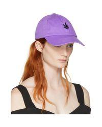 Palm Angels - Purple Vintage Weed Cap - Lyst