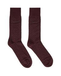 BOSS Purple Burgundy Dot Socks for men