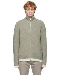 メンズ Maison Margiela グレー ジップアップ セーター Gray