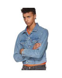 Vetements Blue Levis Edition Cut-up Denim Jacket for men