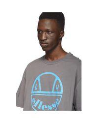 T-shirt gris Curve edition Ellesse Liam Hodges pour homme en coloris Gray