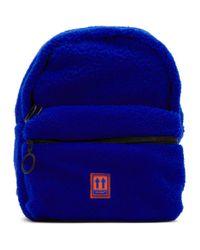 Off-White c/o Virgil Abloh Blue Sherpa Mini Backpack
