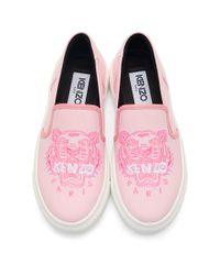KENZO ピンク タイガー K-skate スリッポン スニーカー Pink