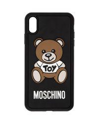 メンズ Moschino ブラック テディ ベア Iphone Xs Max ケース Black