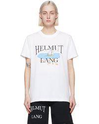 Helmut Lang Saintwoods エディション ホワイト Hl Ocean T シャツ White