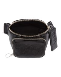 Kara - Black Pebbled Bum Bag - Lyst