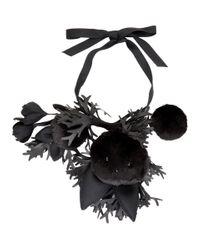 Collier noir Toy Bunny and Flower Comme des Garçons en coloris Black