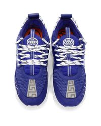 Baskets bleues Chain Reaction Versace pour homme en coloris Blue