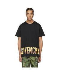 Givenchy | Black Logo Horizon T-shirt for Men | Lyst