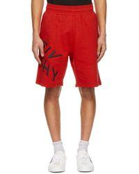 メンズ Givenchy レッド Refracted ロゴ ショーツ Red