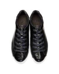 Rag & Bone Black Croc Rb1 Low Sneakers
