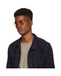 Ray-Ban Silver And Orange Round Phantos Sunglasses for men