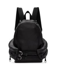 Alexander Wang Black Double Buckle Backpack for men