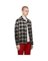 1017 ALYX 9SM Black Gradient Plaid Blazer Shirt for men