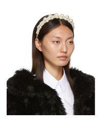 Simone Rocha Multicolor White Cluster Baroque Hairband