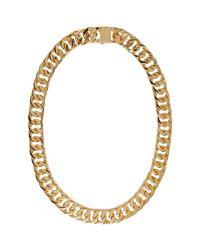 Ambush Metallic Gold New Classic Chain 2 Necklace for men