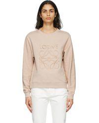 Loewe ピンク アナグラム スウェットシャツ Multicolor
