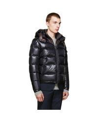Moncler - Gray Grey Down Zin Jacket for Men - Lyst