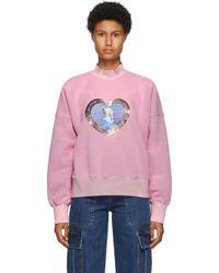we11done ピンク Thermo Sensitive Polar Bear スウェットシャツ Pink