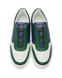 Valentino Multicolor Tricolor Lace Crew Sneakers for men