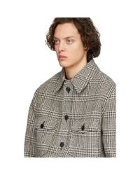 メンズ Isabel Marant ブラック And ベージュ ウール ジャケット Multicolor