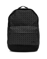 Bao Bao Issey Miyake Black Geometric Print Backpack for men
