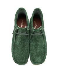 メンズ Clarks グリーン Hairy スエード ワラビー ブーツ Green