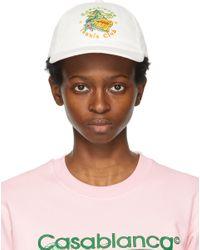CASABLANCA オフホワイト Tennis Club キャップ Multicolor