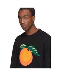メンズ CASABLANCA ブラック Orange セーター Black
