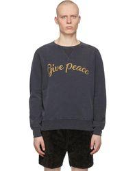 メンズ Remi Relief ブラック Give Peace スウェットシャツ Black